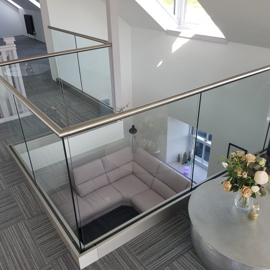David Do frameless glass balustrade channel system