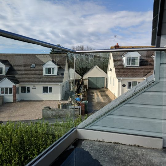 frameless glass balustrade installed in cornwall