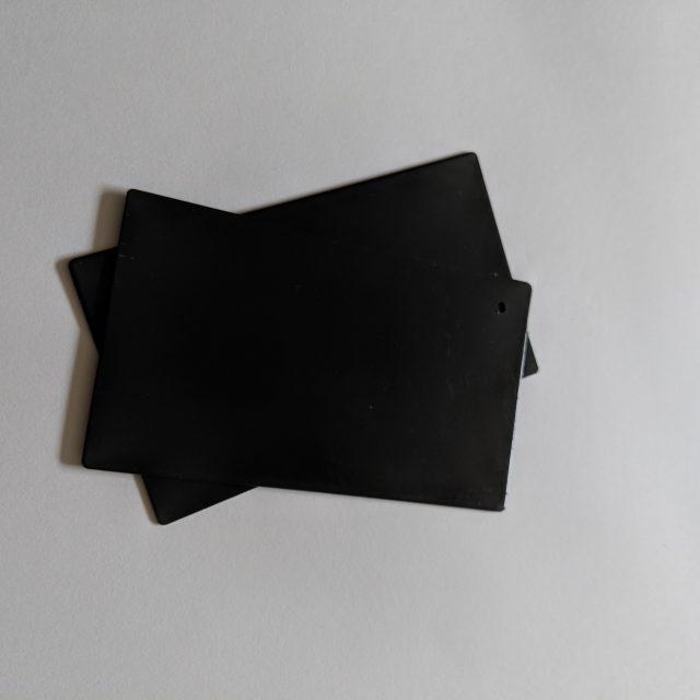 Powdercoated end cap for solus frameless glass balustrade