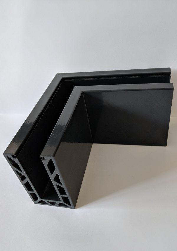 Solus frameless balustrade powdercoated