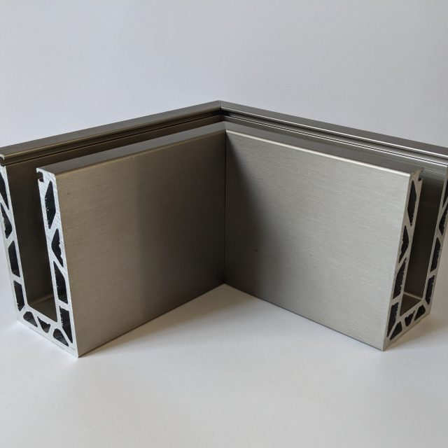 solus pre made corner for frameless glass balustrade