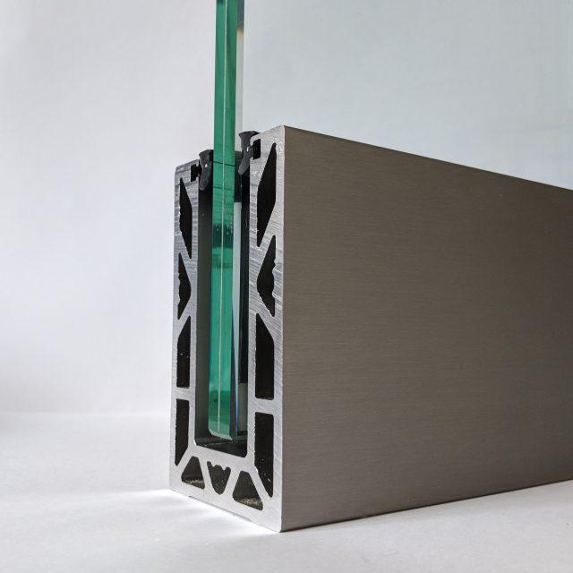 open end of solus frameless glass balustrade system from Vantage