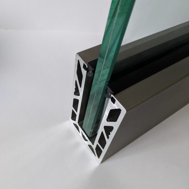 open end of solus frameless glass balustrade system