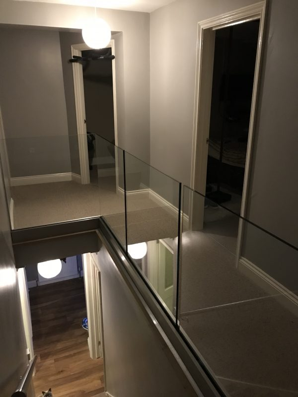 solus balustrade installed on a landing
