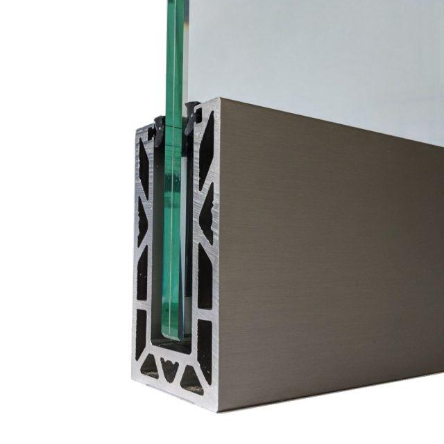 Vantage Balustrades Solus frameless glass balustrade channel system